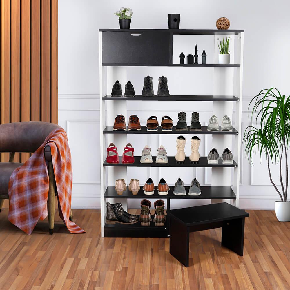 صور خزائن جانبية وجزامة دولاب منظم أحذية جزامة بمقعد موديل دوكلاند