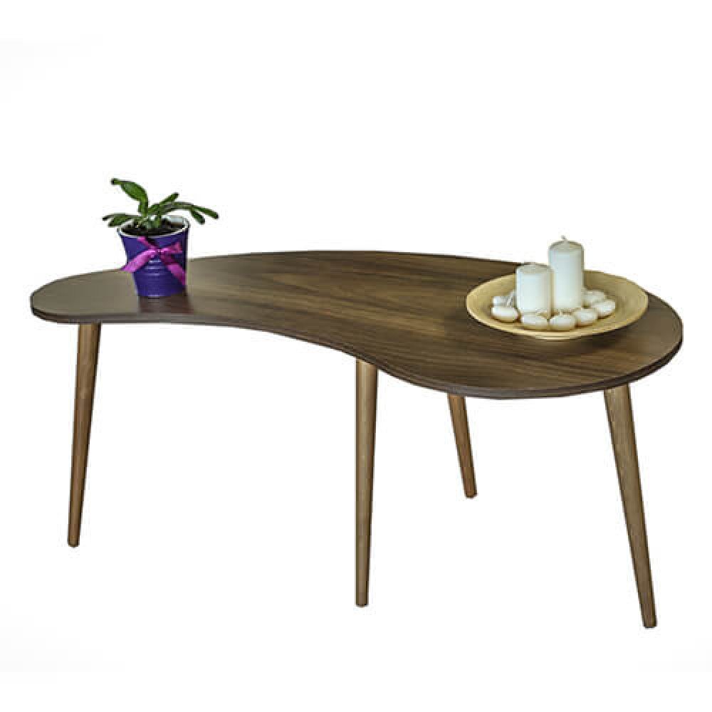 صور اثاث منزلي طاولات قهوه  مودرن حديث طاولة قهوة خشب بني موديل كيرف
