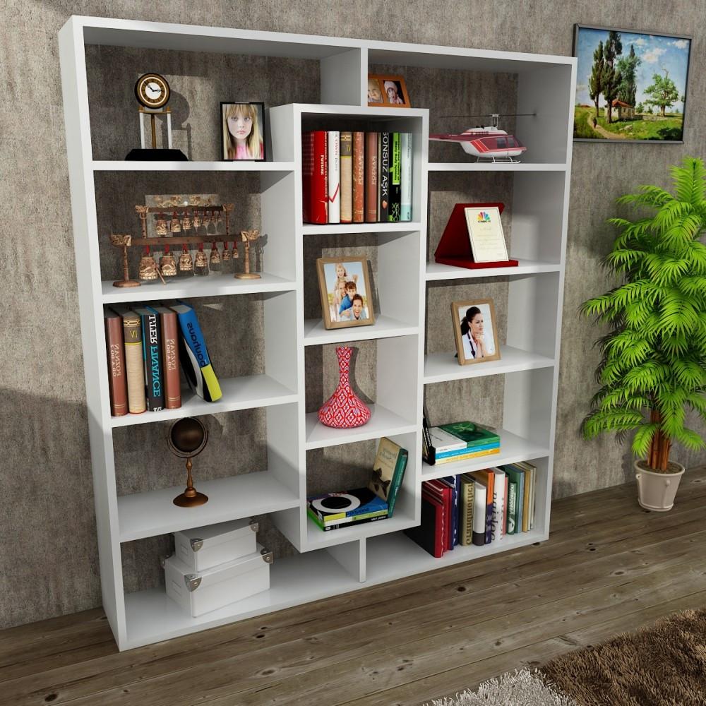 دولاب مكتبة أبيض Ample