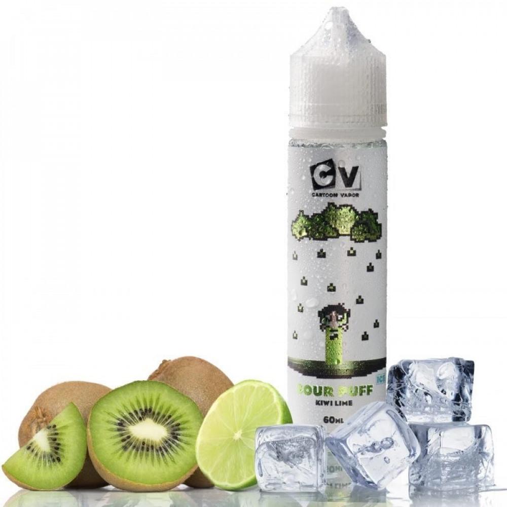 نكهة سي في كيوي ليمون ايس 60 ملي - CV SOUR PUFF Kiwi Lime ICE - 60ML
