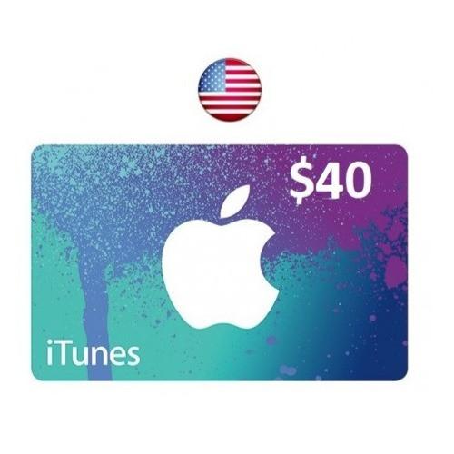 ايتونز امريكي 40 دولار