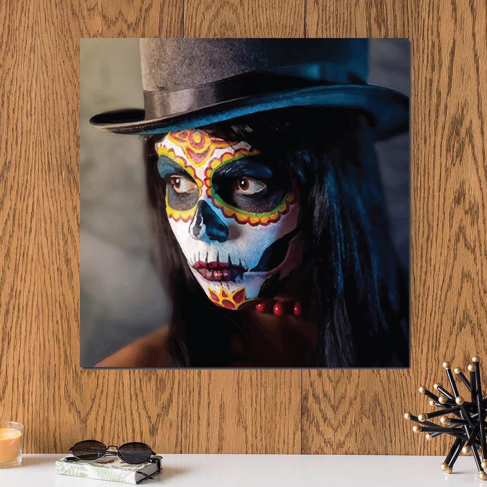 لوحة قناع الهالووين خشب ام دي اف مقاس 30x30 سنتيمتر