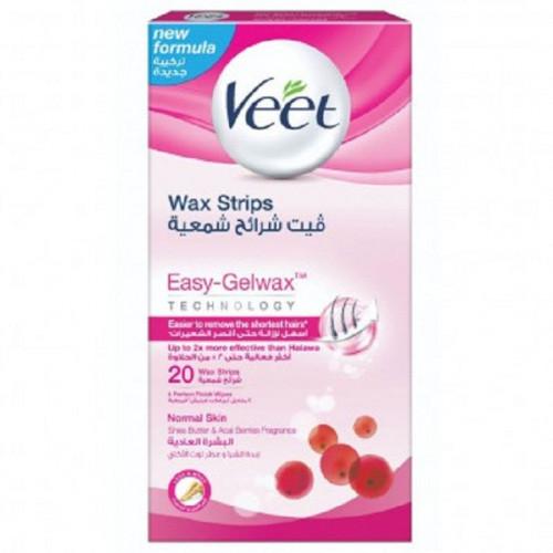 فيت شرائح شمعية لازالة الشعر للبشرة العادية        Veet Hair Removal W