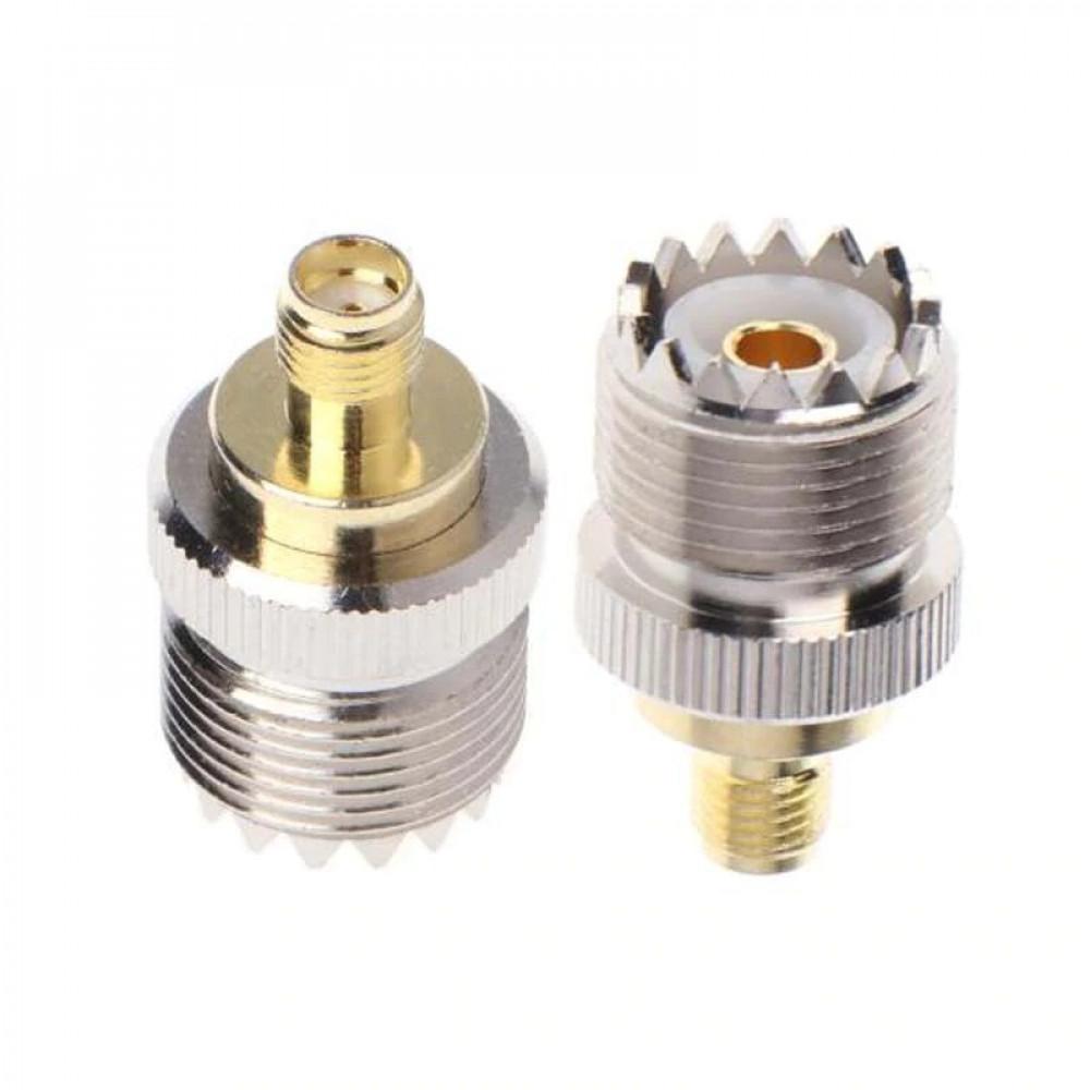 عدد 1 محول من SMA أنثى الى UHF أنثى للاستخدام مع الكيبل المحوري