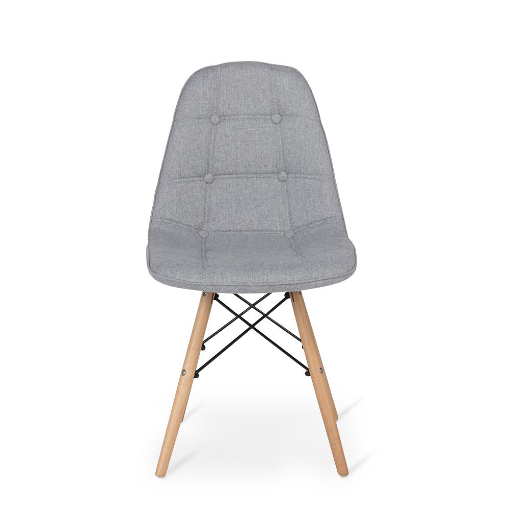 مظهر أنيق للكرسي في طقم كراسي نيت هوم رمادي فاتح من تجارة بلا حدود