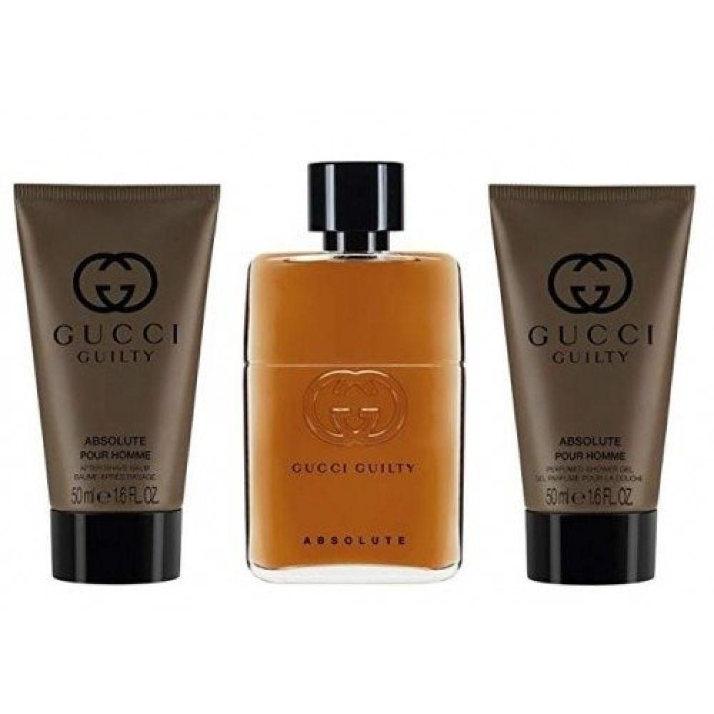 Gucci Guilty Absolute for Men Eau de Parfum 90ml 3 Gift Set خبير العطو