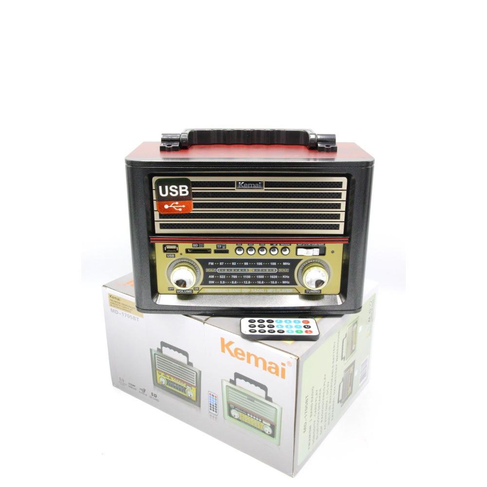 راديو تراثي يعمل على قنوات AM FM SW يدعم فتحة  USB SD TF AUX وبلوتوث