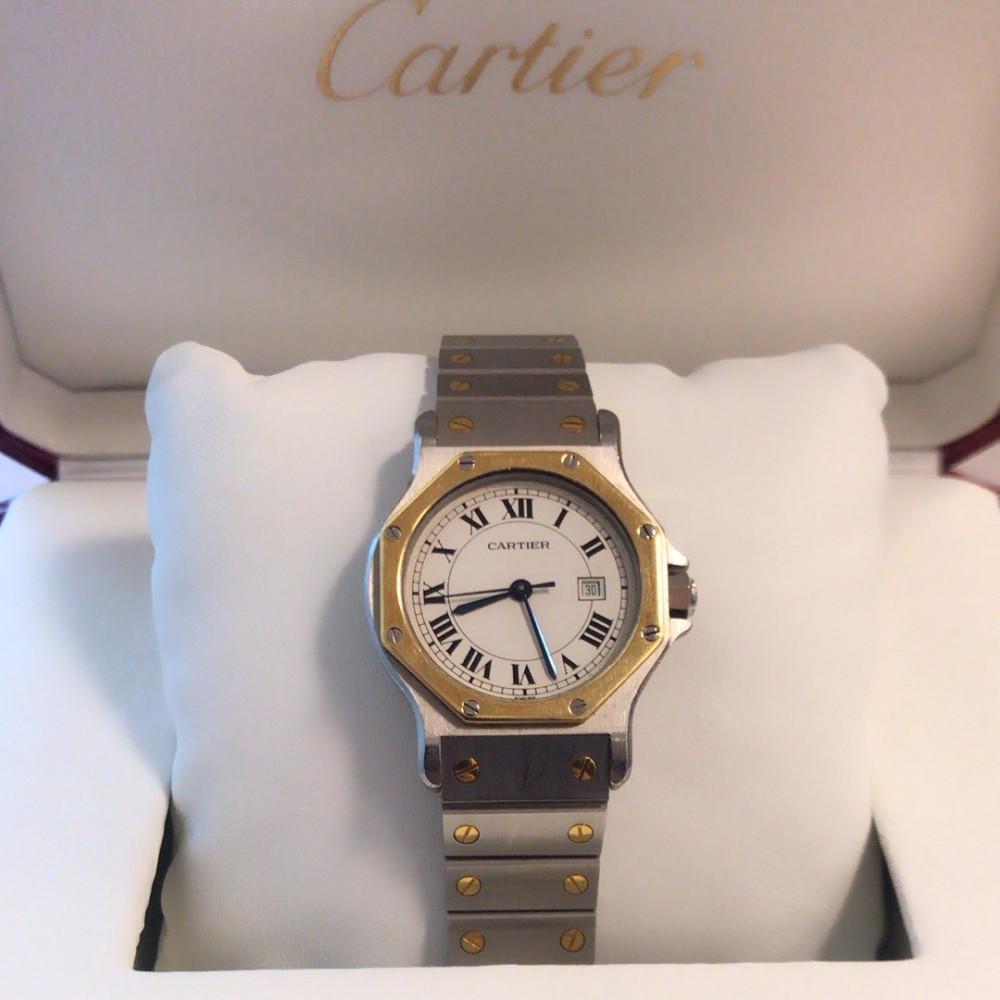 ساعة كارتييه سانتوس الأصلية الفاخرة مستخدمة