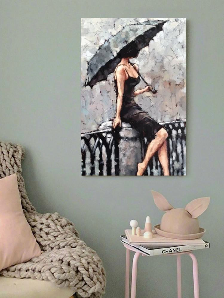 لوحة المرأة الأنيقة خشب ام دي اف مقاس 40x60 سنتيمتر