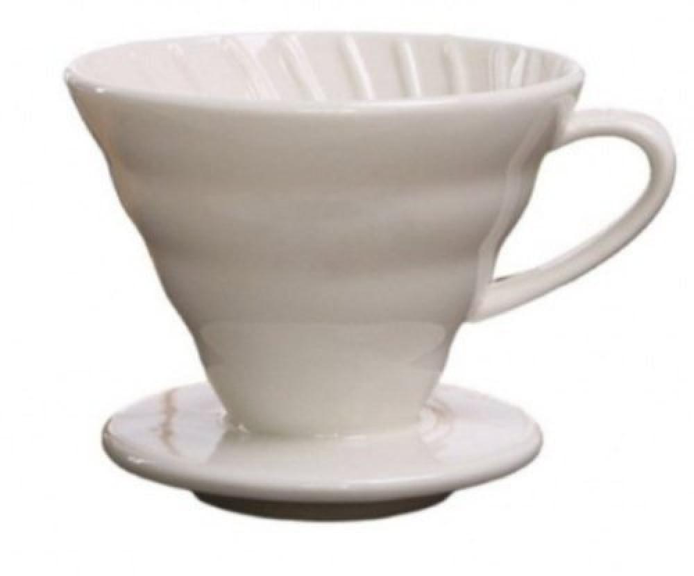 قمع تقطير القهوة V60 سيراميك مقاس 02 متجر كوفي كلاود فنجان قهوة