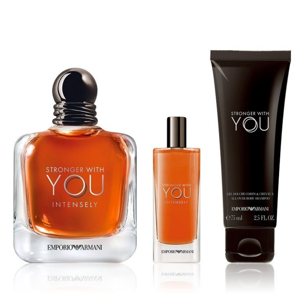 Emporio Armani Stronger With You Intensely for Men 3 Gift Set  خبير ال