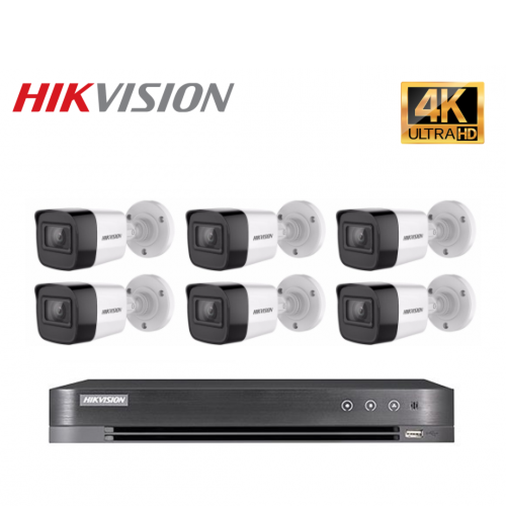 6 كاميرات 8 ميجـا - داخلية او خارجية مع جهاز تسجيل 8 قنوات  HD