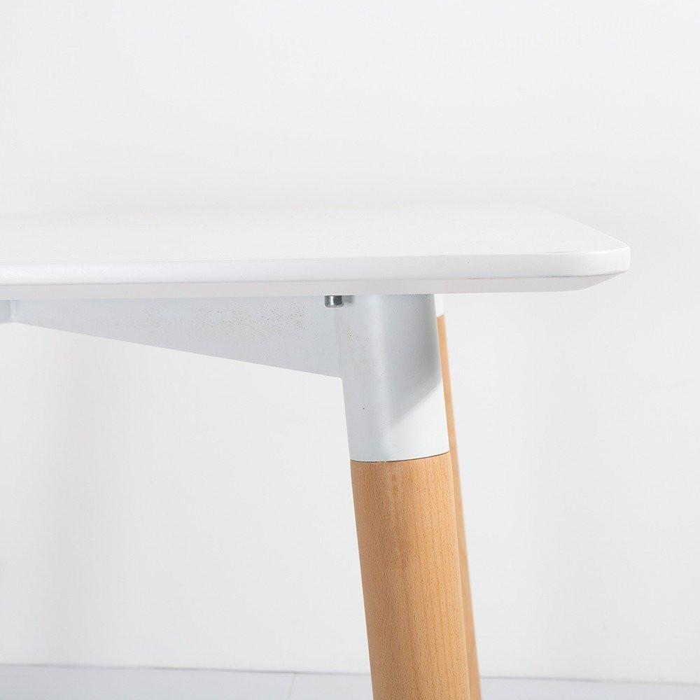 مواسم طاولة نيت هوم بيضاء عصرية مصنوعة من خشب الزان الممتص للصدمات