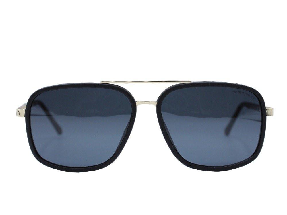 نظاره شمسية كلاسيكية من ماركة VESTERN  لون العدسة اسود مدرج رجالية2021