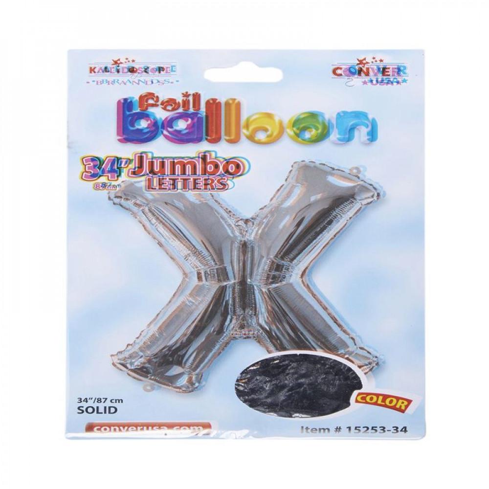 بالون فضي, بالون حرف X, بلونات أحرف, Silver Balloon