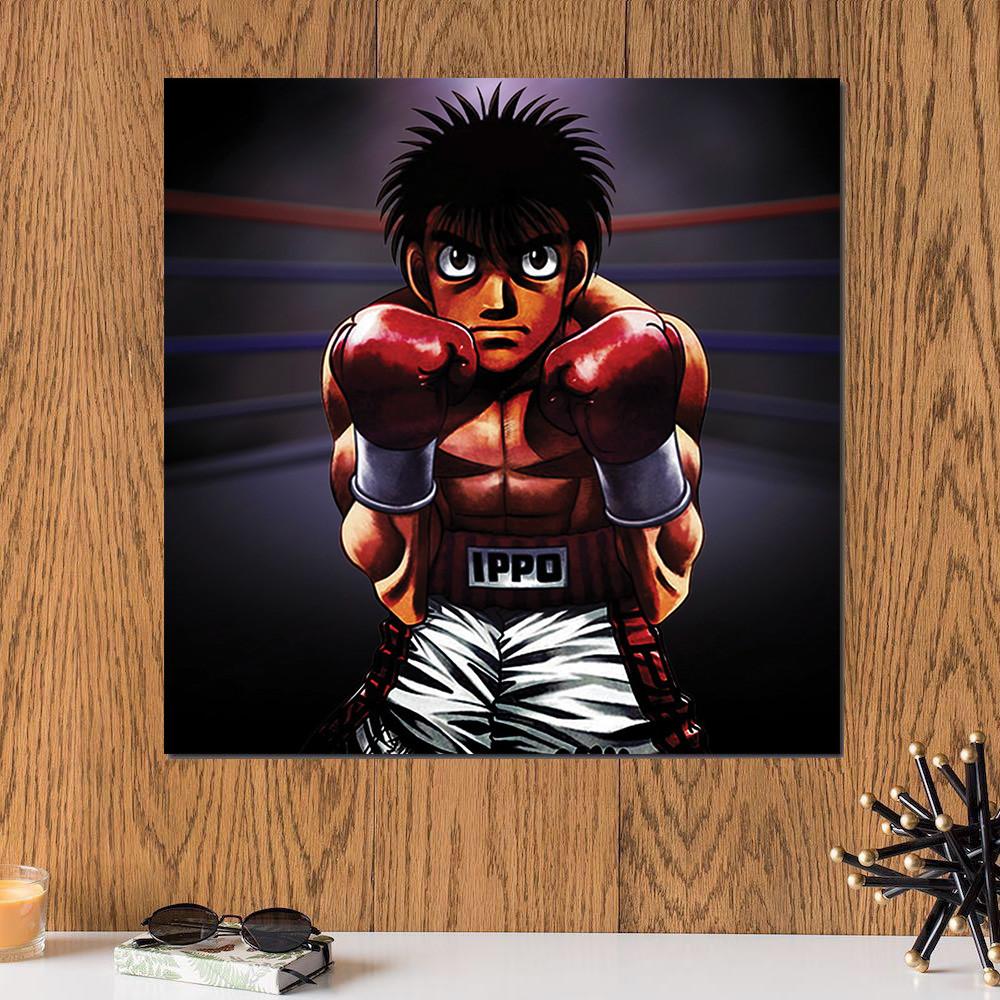 لوحة انمي , الملاكم خشب ام دي اف مقاس 30x30 سنتيمتر