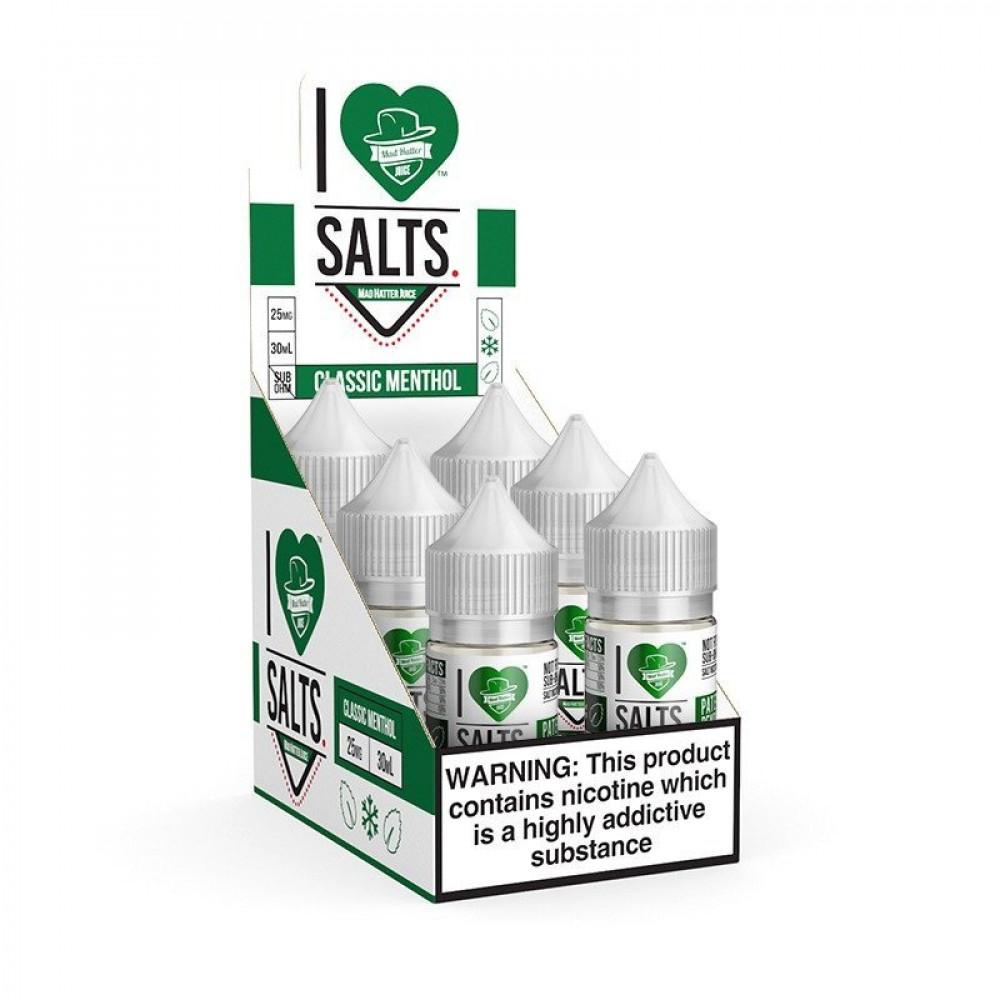 I LOVE SALTS CLASSIC MENTHOL - Salt Nicotine - نكهات فيب سولت سيجارة