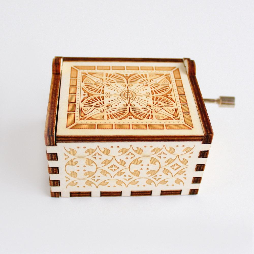 صندوق موسيقى خشبي موسيقى you are my sunsh أفكار هدية عيد الميلاد متجر