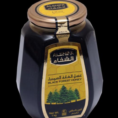 عسل الغابه السوداء الشفاء اصلي كيلو 1000جرام قهوة و بهارات امي