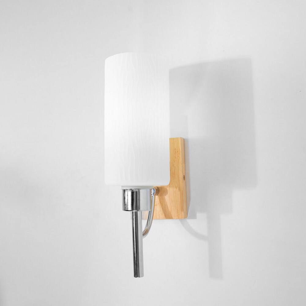 ابليك حائط خشب مفرد زجاج مطفي - فانوس
