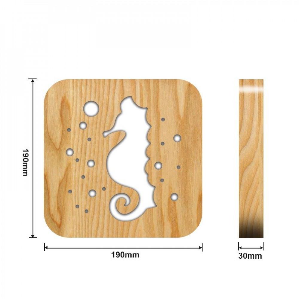 مواسم تحفة فنية على شكل حصان البحر القياسات التفصيلية للتحفة و القطعة