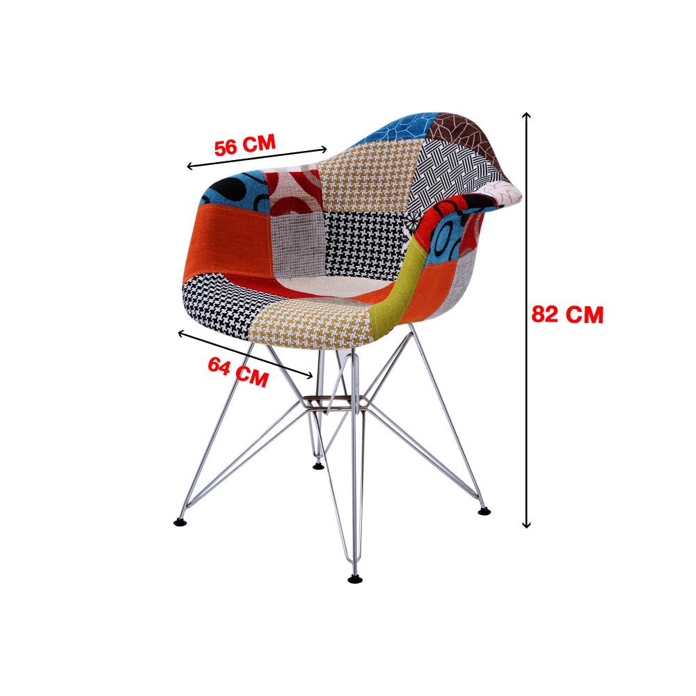 كرسي كاما ملون فيبر ارجل حديد C-D-823BT