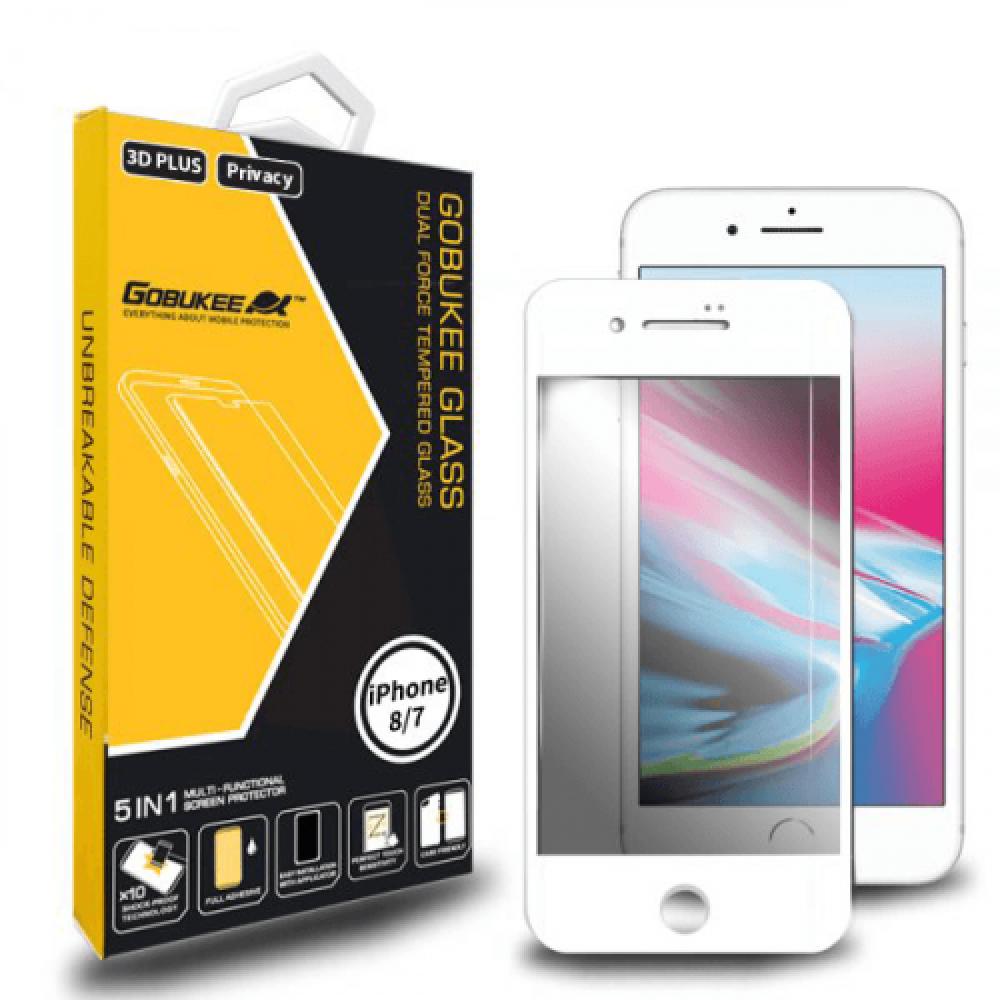 استكر حماية و خصوصية لكامل الشاشة 3D لأيفون 8و7 بلس من جوبوكي - ابيض
