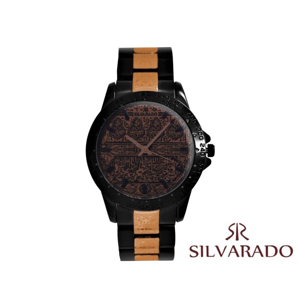 ساعة يد رجالية فخمة بتصميم كسوة الكعبة
