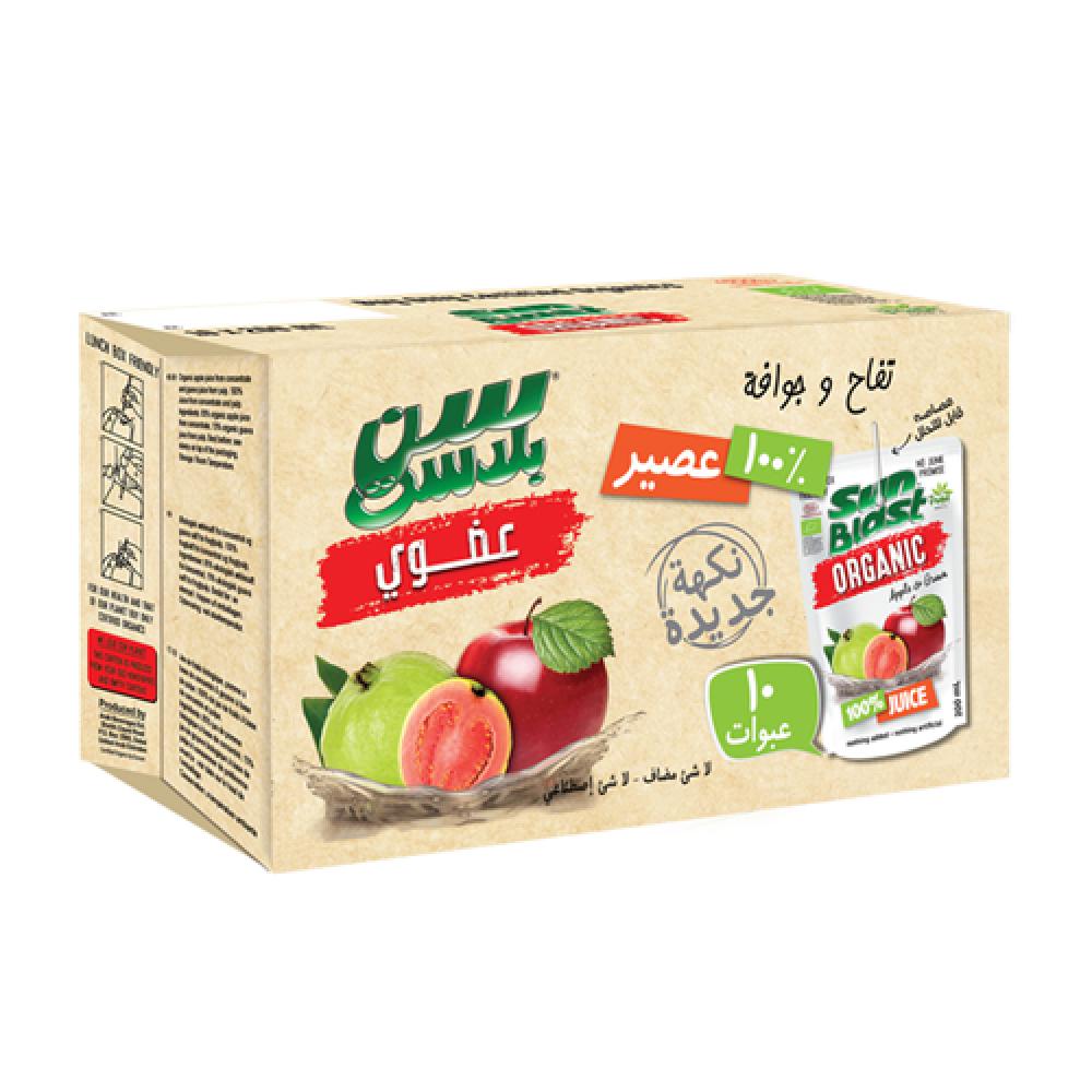 سن بلاست عصير تفاح وجوافة عضوي