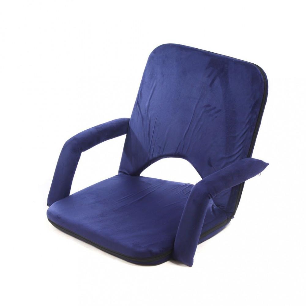 كرسي ارضي مخمل بمتكي