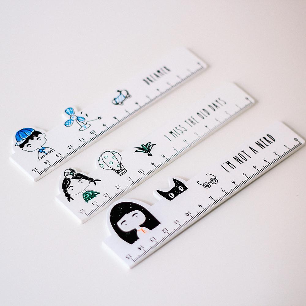 قلم متعدد ألوان الحبر أطفال أدوات مدرسية أدوات مكتبية مسطرة مساطر