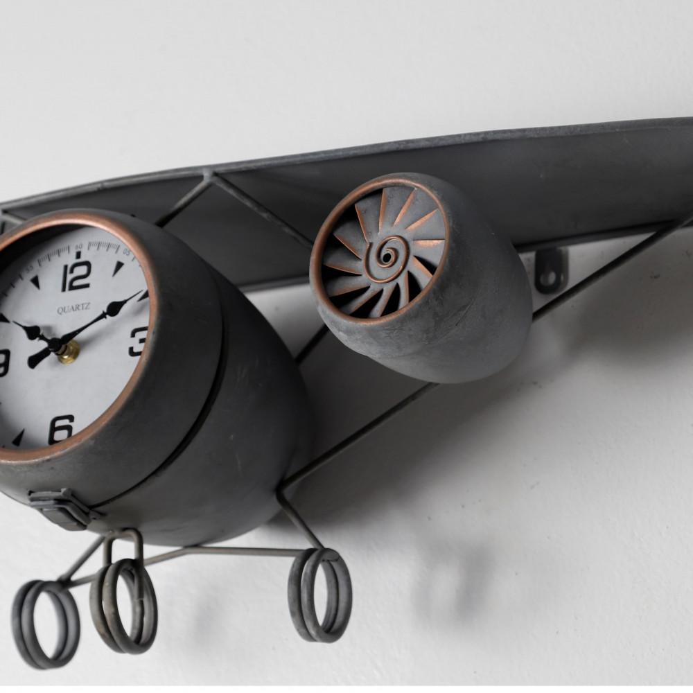 الأبداع والأحترافية ساعة حائط أنتيكة موديل بلان ايت شكل طائرة المعدنية