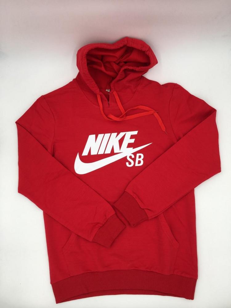 بلوفر Nike احمر مع قبوع صناعة تركية