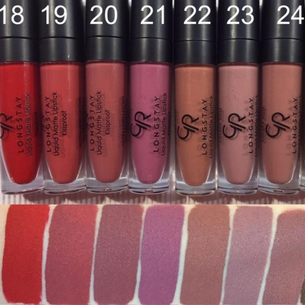 golden rose longstay liquid matte lipstick روج قولدن روز 20