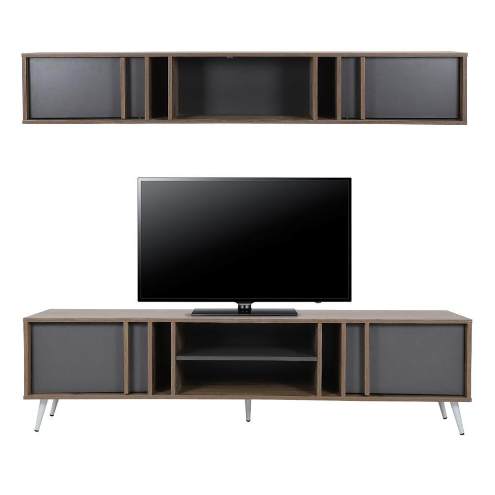 طاولة تلفزيون برفوف داخلية ودرف تخزين لوضع شاشات LCD 8 K بالسعودية