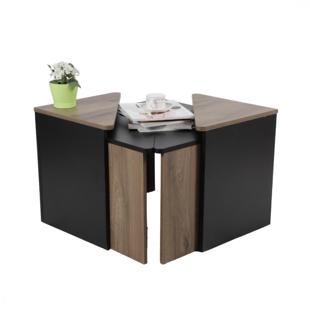 طاولة متعددة الاستخدام موديل فلورا صناعة خشبية للصالات بتصميم عصري