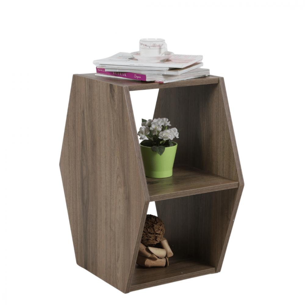 طاولة جانبية خشبية موديل جيفت بتصميم أنيق مصنوعة من الخشب مواسم