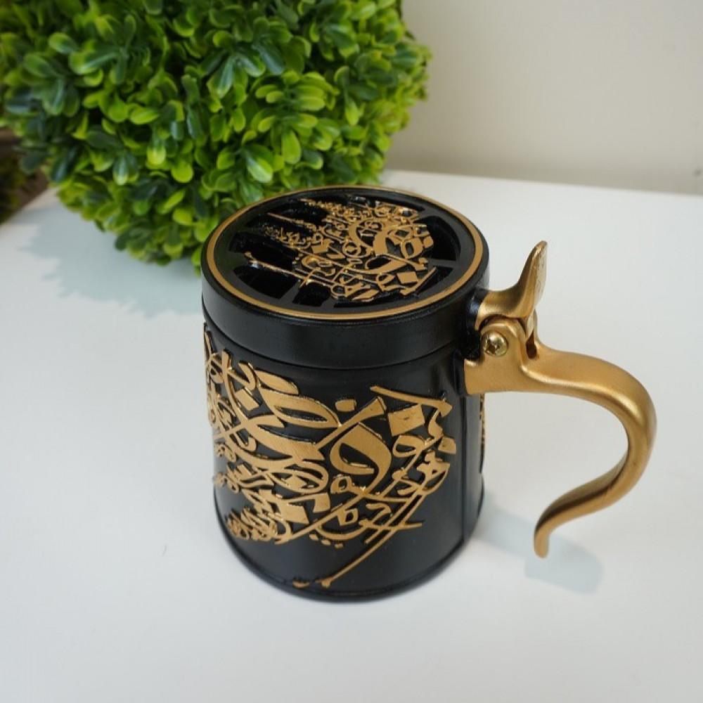 مبخرة رخام صناعي كوب احرف عربية مباخر ومداخن بخور ديكورات المنزل رمضان