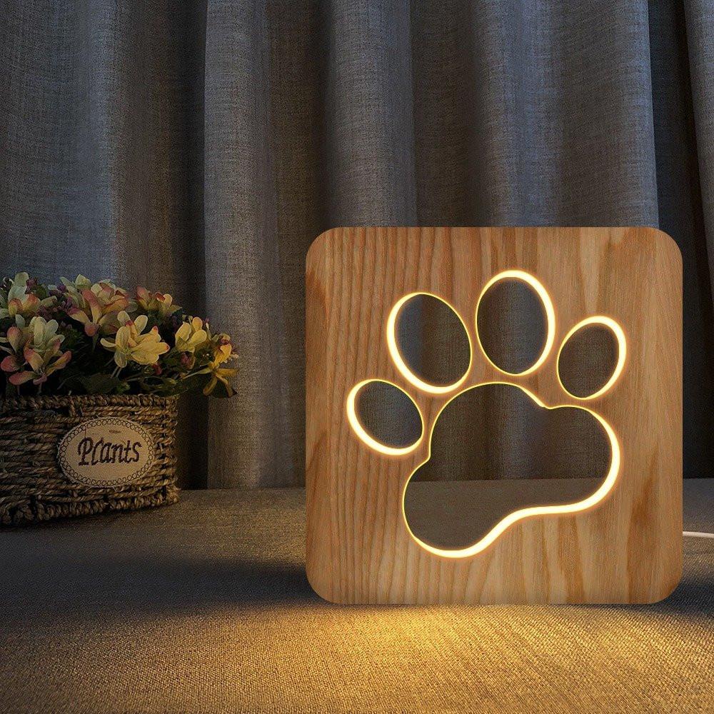 مواسم تحفة فنية خشبية مضيئة بشكل بصمة بتصميم راقي ومميز جدا