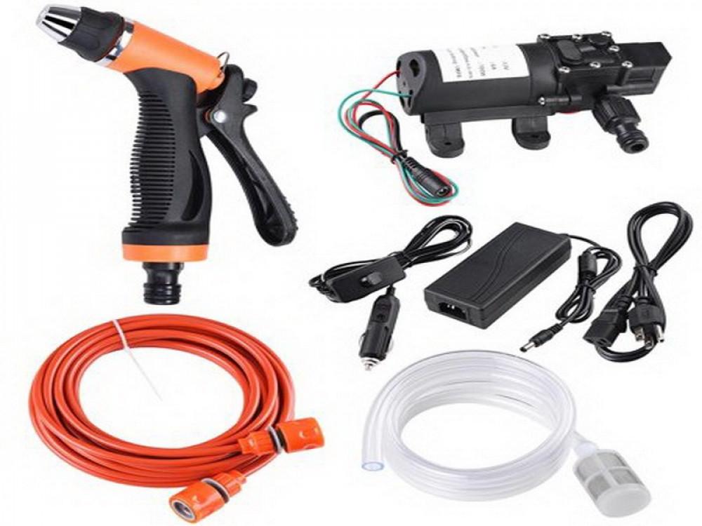 شنطة مضخة مياه ضغط عالي يعمل بكهرباء المنزل والسيارة لغسيل السيارات