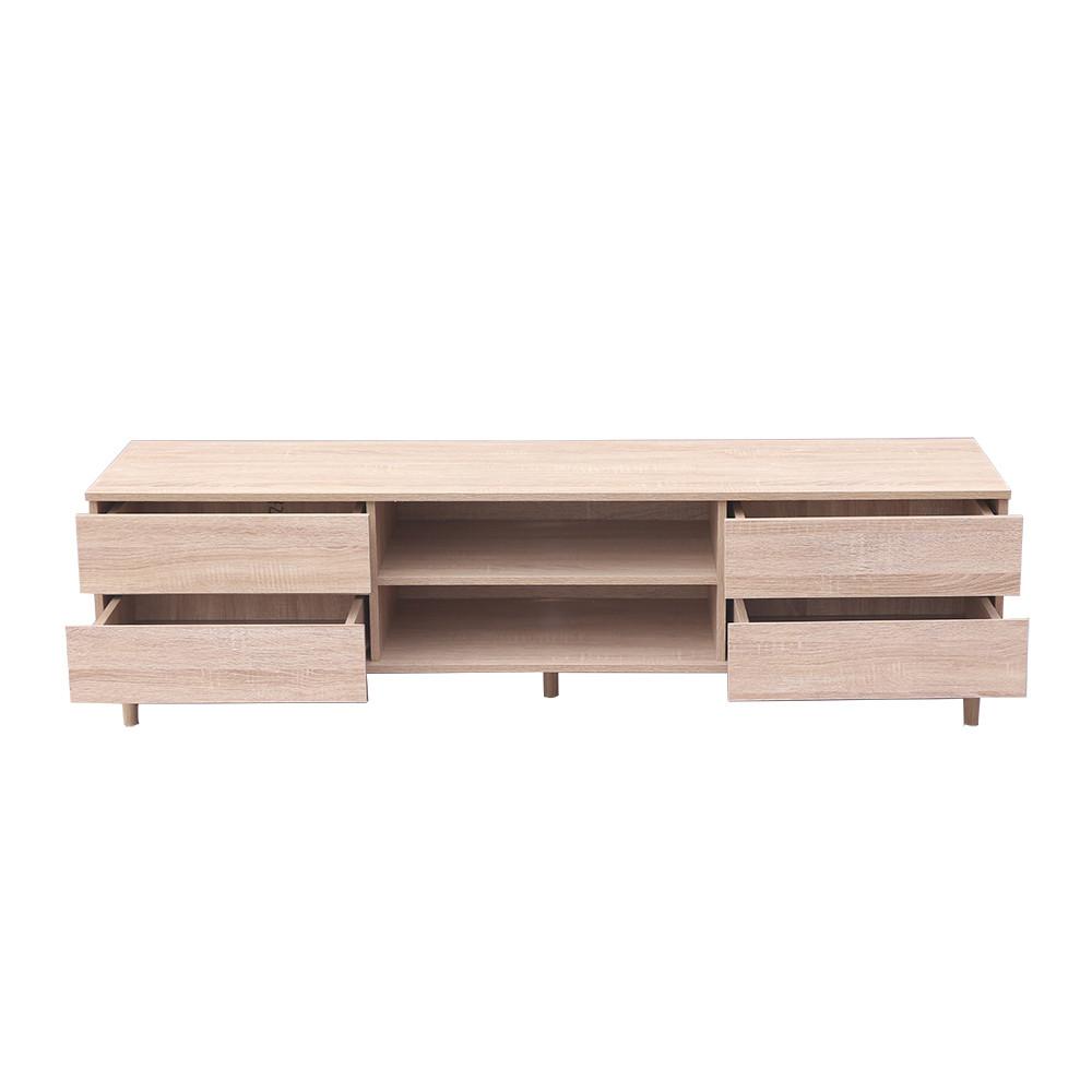 مواسم طاولة تلفاز بأربع أدراج ووحدات تخزين واجهة أمامية بدروج مفتوحة