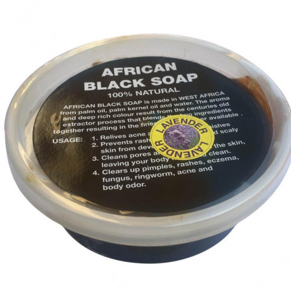 الصابونة الأفريقية المعجونالطبيعية  برائحة الخزاما حجم 200 جرام
