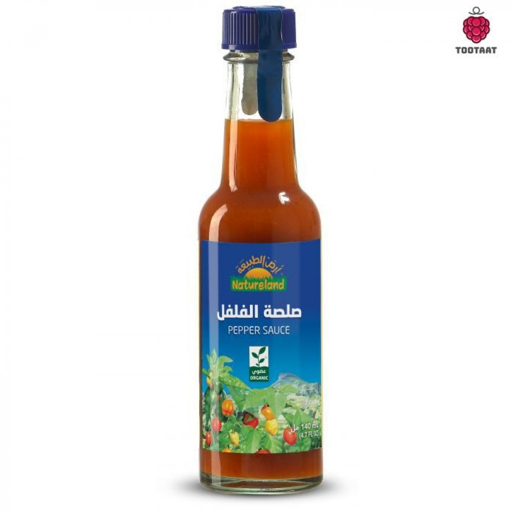 صلصة الفلفل 140 جم Natureland Hot Pepper sauce140 g