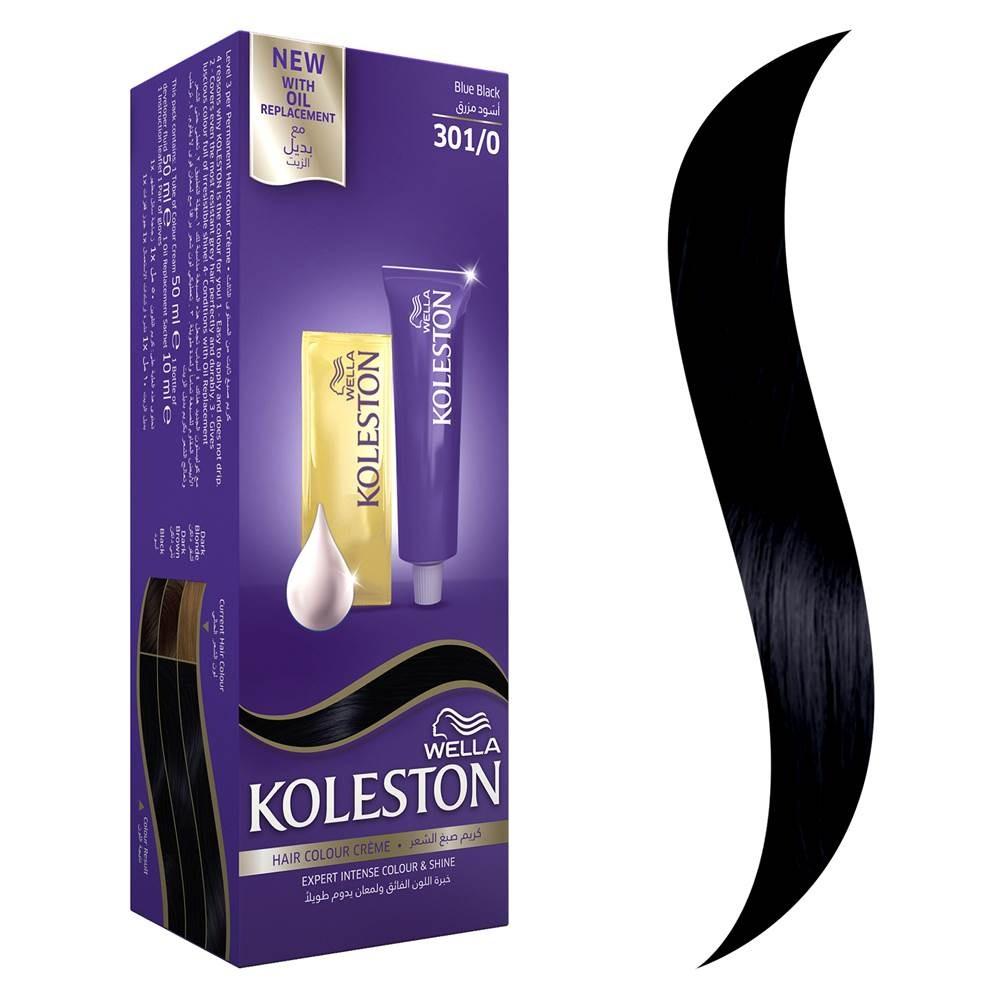 صبغة شعر اسود مزرق من كوليستون 301 0 متجر نارسي