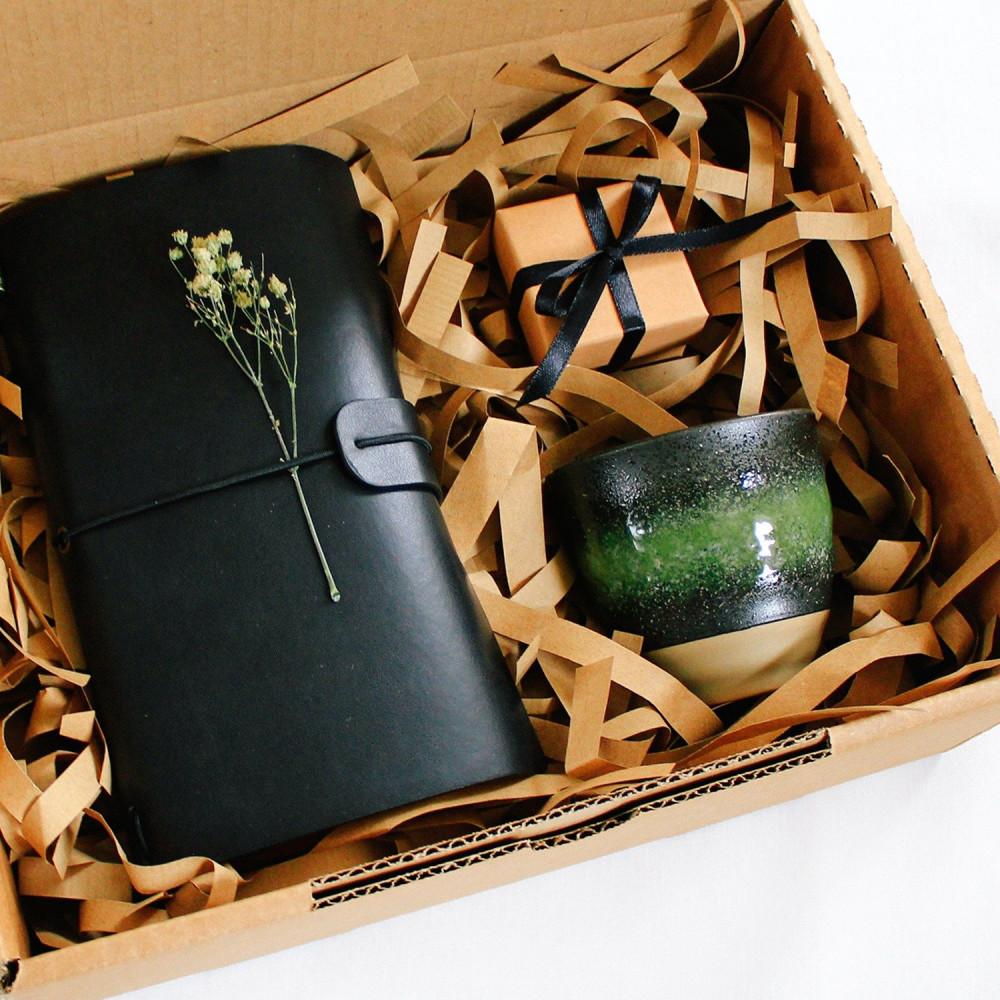 هدايا هدية دفتر جلد هدايا رجالية نسائية محبين القهوة  أجندة دفتر متجر