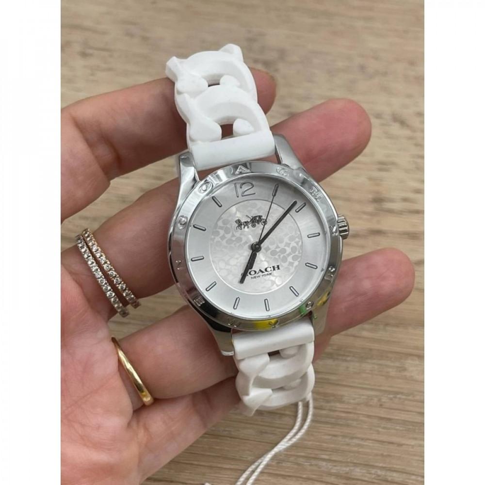 سعر ساعة كوتش لون ابيض - متجر كيوت ستور