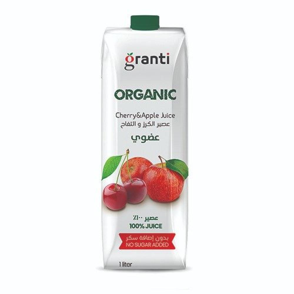قرانتي عصير تفاح وكرز عضوي 1 لتر