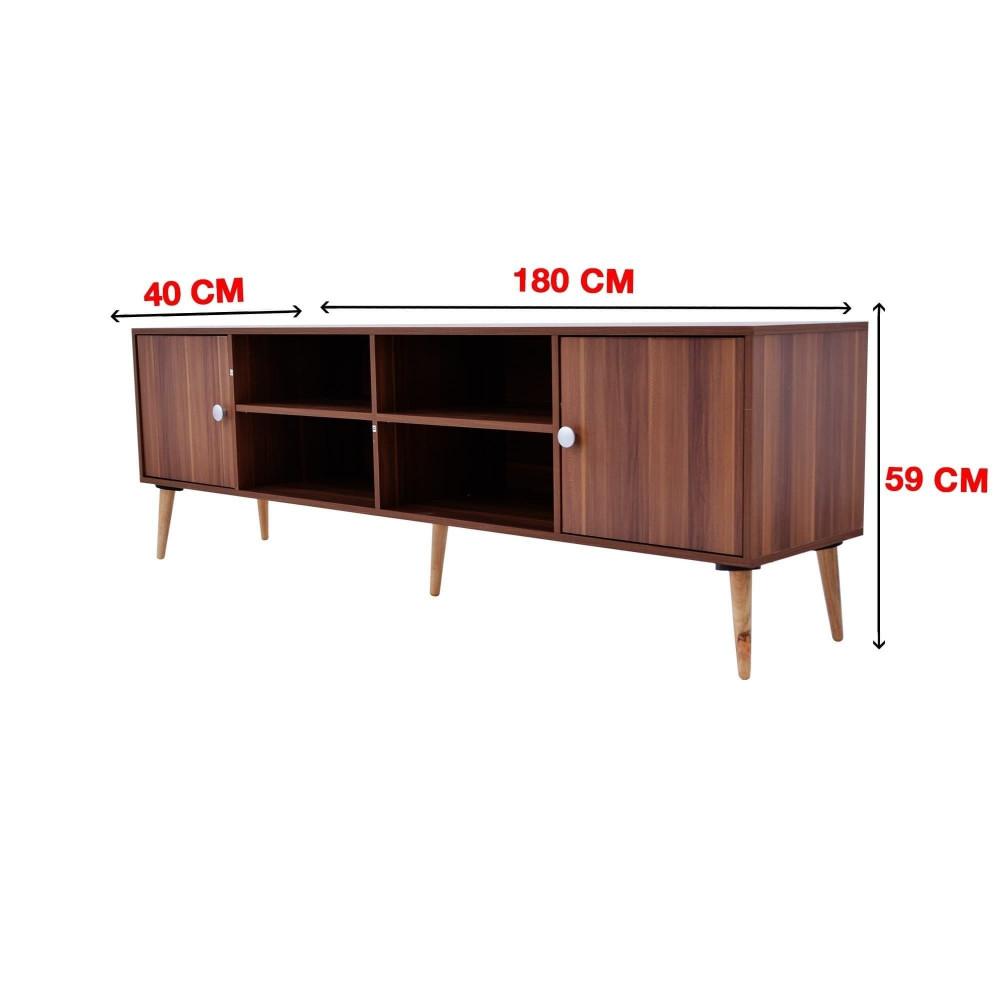 طاولة تلفازيون C-180--teak 0119 من كاما