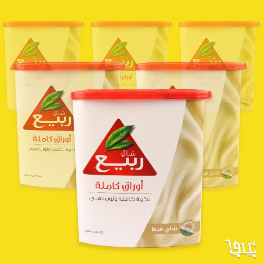 كرتون شاي ربيع اوراق كاملة 400 غرام 12 حبة غدف ستور Ghadaf Store