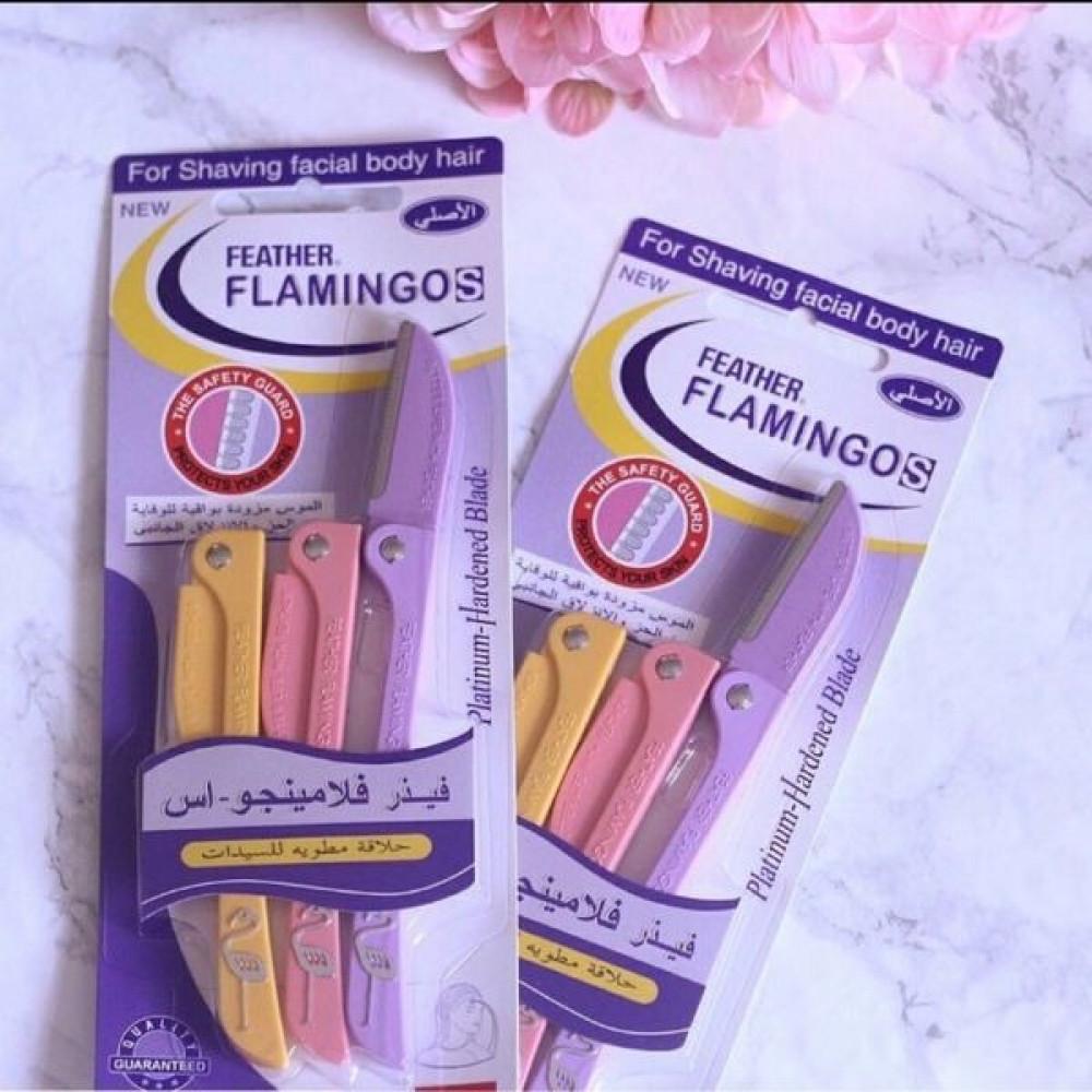 Feather Flamingos Facial Razors شفرات فلامينجو لشعر الوجه